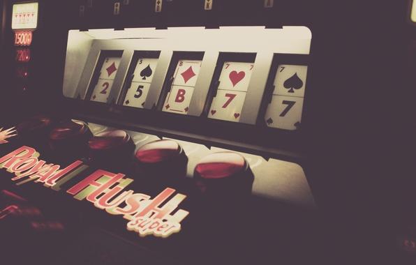Picture card, style, button, machine, game, suit, casino, Las-Vegas, game, royal flush