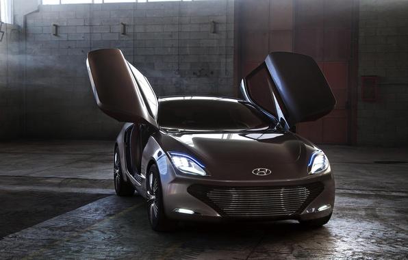 Picture auto, Concept, light, lights, Hyundai, the front, i-oniq