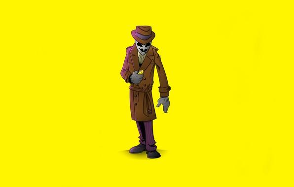Picture yellow, minimalism, Keepers, Watchmen, Rorschach, Rorschach, Walter Kovacs