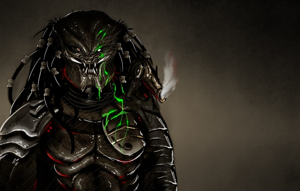 Picture the dark background, predator, alien, alien, predator