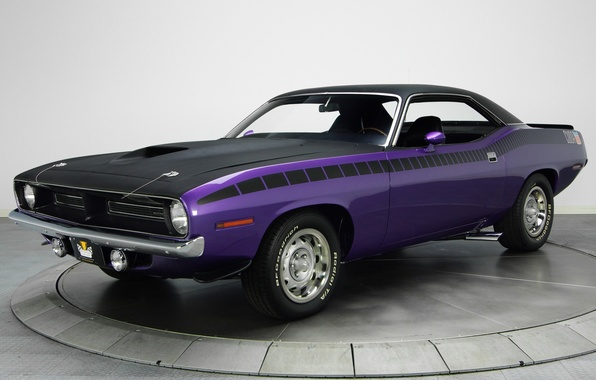 Picture background, 1970, Plymouth, the front, Muscle car, Cuda, AAR, Muscle car, Plymouth, Where