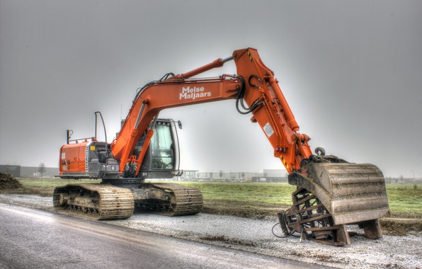Picture technique, hdr, excavator, construction
