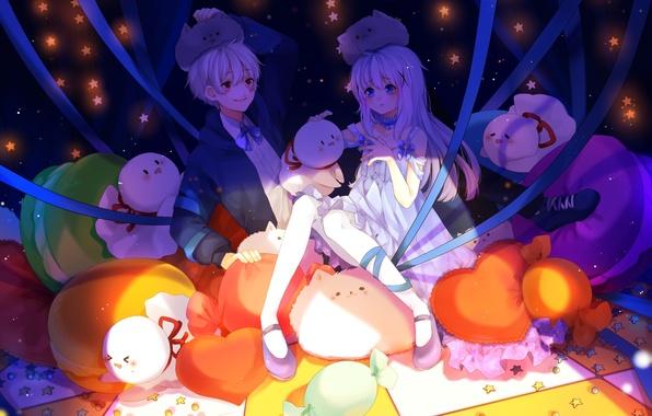 Picture girl, tape, animals, anime, art, guy, nico nico singer, gochuumon wa usagi desu ka?, flats …