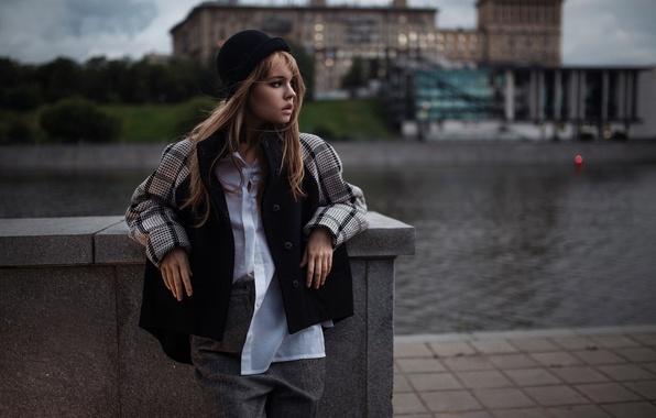 Picture girl, the city, hat, Nastya, Anastasia Shcheglova, Ivan Gorokhov