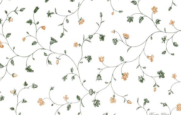 Picture flowers, comfort, pattern, texture, White background, risunok