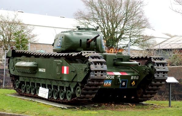 Picture British, WW2, heavy, infantry tank, Churchill Mark II