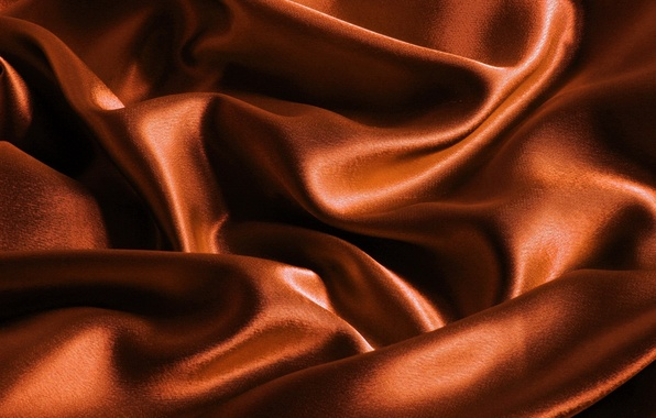 Picture orange, background, color, texture, silk, fabric, brown, Atlas, beautiful, play