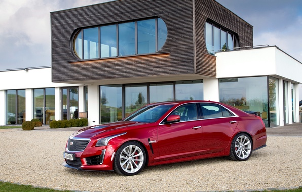 Picture red, Cadillac, CTS, Cadillac