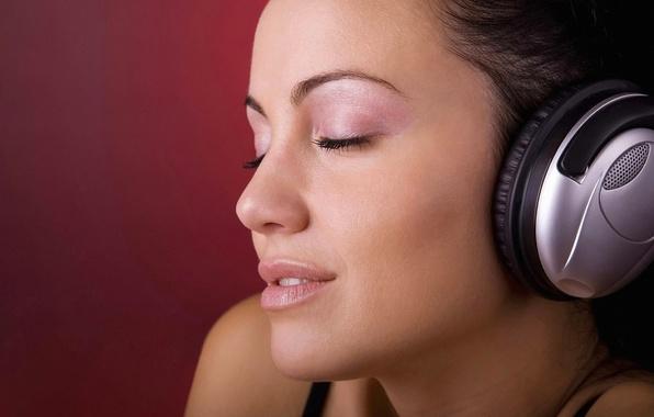 Picture life, smile, Girl, headphones, easy