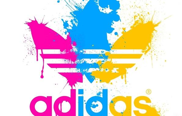 Picture paint, sport, emblem, adidas