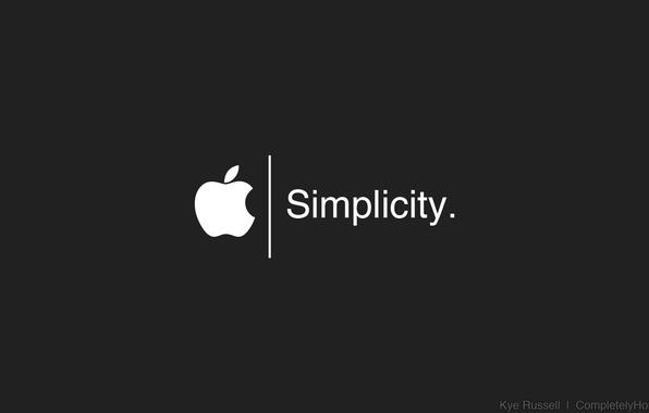 Picture Apple, logo, white, black