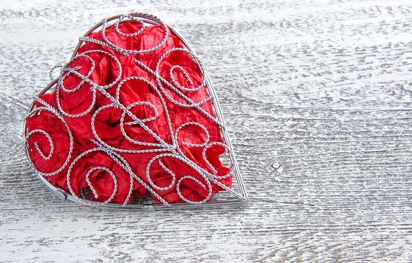Picture tree, heart, fabric, frame