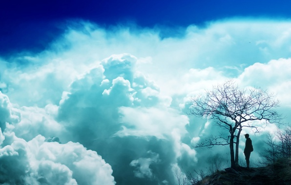 Picture dream, clouds, blue sky