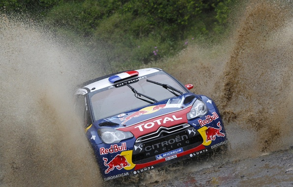 Picture Race, Dirt, Citroen, Squirt, DS3, WRC, Rally, Rally, The front, Competition
