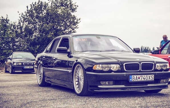 Picture BMW, Boomer, BMW, tuning, Stance, E38