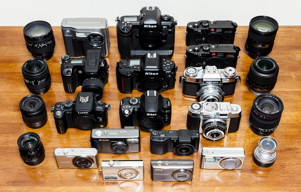 Picture background, model, collection, cameras