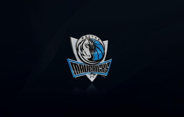 Picture Black, Blue, Basketball, Background, Logo, NBA, Dallas, Dallas, Dallas Mavericks