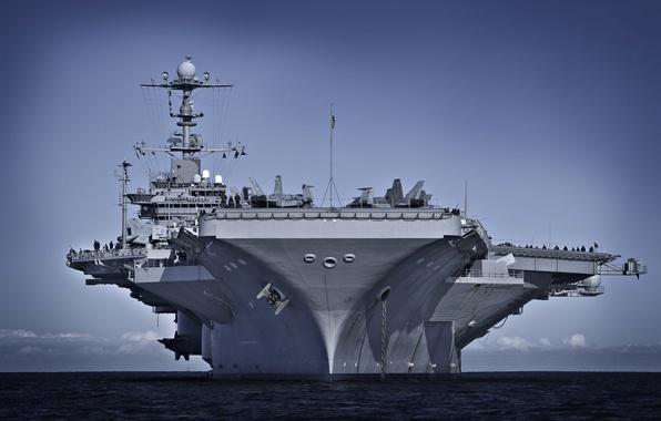 "Photo wallpaper ""George Washington"", CVN-73, ""Nimitz"", USS, George Washington, American, atomic, type, the carrier"