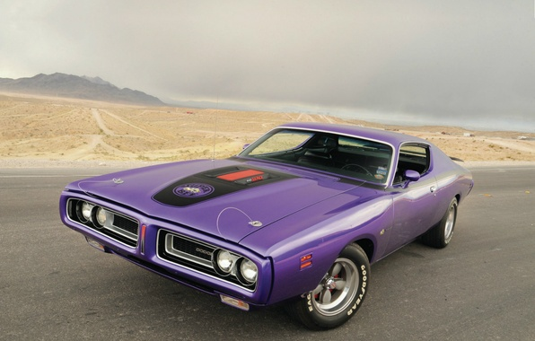 Picture road, landscape, Wallpaper, 1971, Dodge, Dodge, muscle car, wallpapers, Super Bee