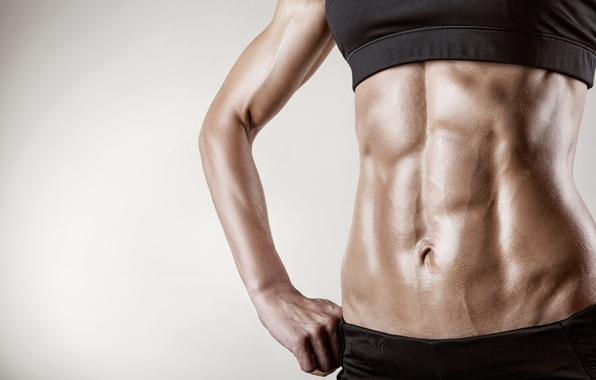 Picture women, silhouette, fitness, abs, diets, low body fat