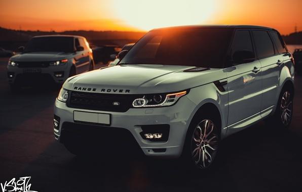 Picture machine, auto, sunset, Land Rover, Range Rover, Sport, Vladimir Smith