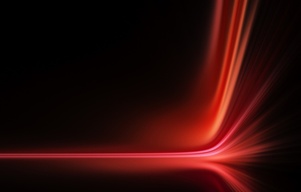 Picture line, abstraction, bending, red, line