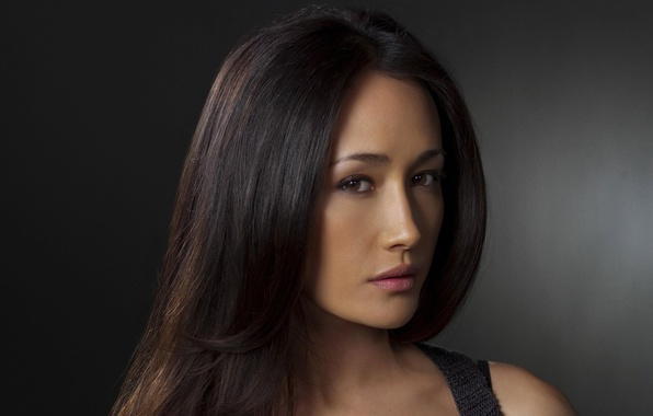Wallpaper Girl, Girls, Brunette, Maggie Q, Famous Actress, Looking At The Camera -3586