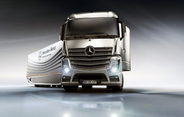 Photo wallpaper mercedes, tractor, the truck, mp4