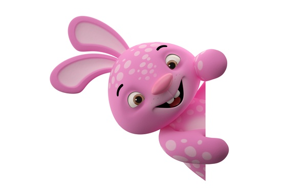 Picture character, monster, smile, rabbit, pink, funny, cute