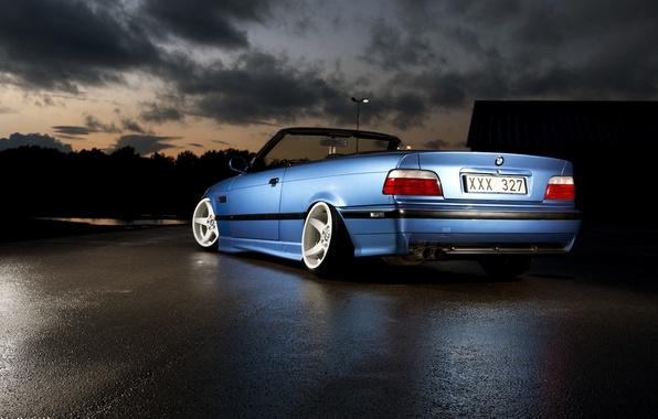 Picture blue, bmw, BMW, blue, stance, e36