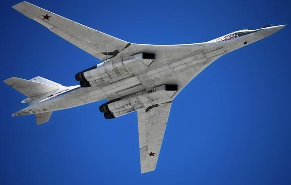 Picture Russia, bomber, missile, strategic, BBC, The Tu-160, white Swan, Blackjack, supersonic