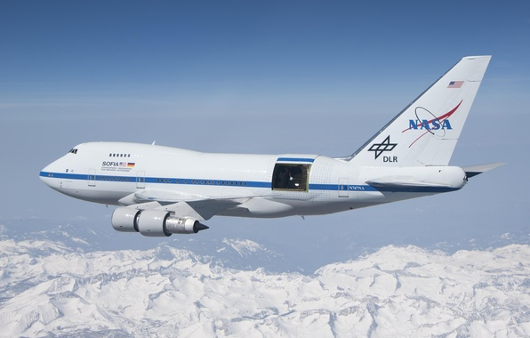 Picture NASA, stratosphere, DLR, Boeing 747SP, infrared telescope, SOFIA