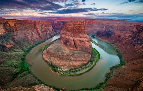 Picture river, Colorado, canyon, AZ, USA, state, Horseshoe (Horseshoe Bend)