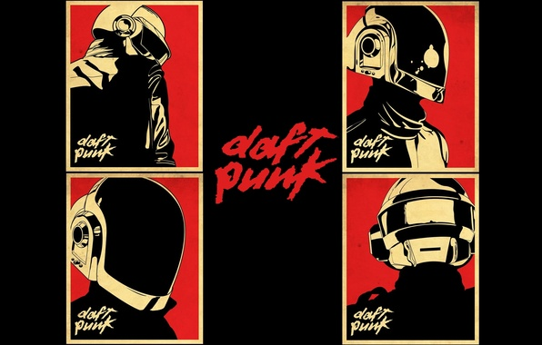Picture music, music, poster, Daft Punk, poster