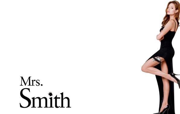 Picture dress, actress, Angelina Jolie, Angelina Jolie, legs, beauty, Mrs.Smith, Mrs. Smith