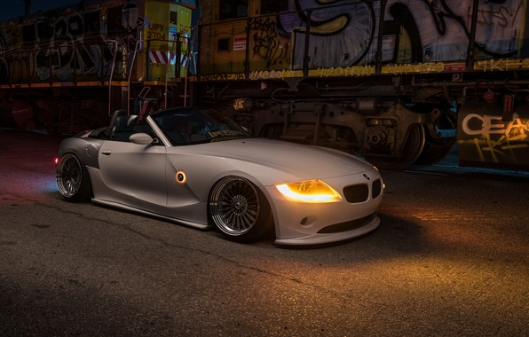 Picture car, night, tuning, bmw z4, stance