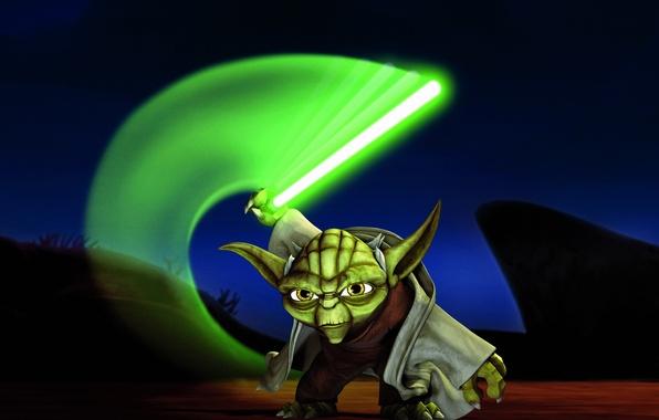 Picture sword, Jedi, Star Wars: The Clone Wars, master yoda, Star wars: the clone Wars, Yoda