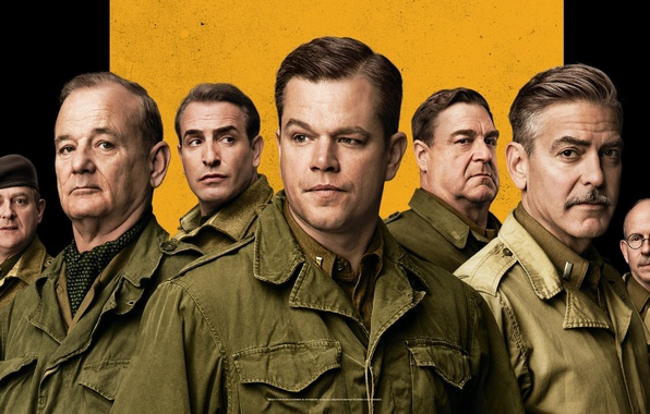 Picture poster, Matt Damon, George Clooney, Jean Dujardin, Jean Dujardin, George Clooney, Bill Murray, Bill Murray, …
