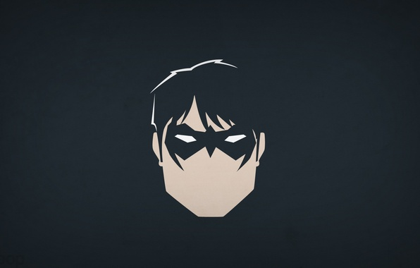 Picture minimalism, DC Comics, blo0p, Dick Grayson, Nightwing