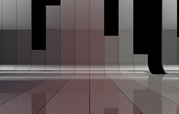 Picture color, line, strip, perspective, Shine, bending
