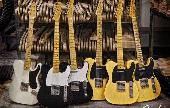 Picture guitar, fender, esquire, electric, telecaster