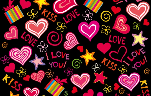 Picture love, vector, hearts, love, background, romantic, hearts, sweet, valentine