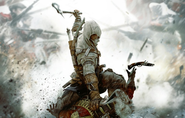 Picture killer, ubisoft, assassin, assassins creed, Desmond, yubisoft, Assassin's Creed III, Radunhageydu, ac3, Connor, assassin's creed