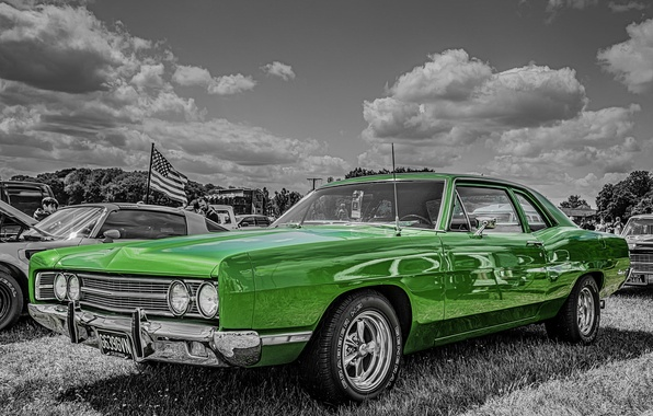 Picture retro, 1969, car, classic, Ford Galaxie