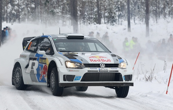 Picture Winter, Snow, Forest, Volkswagen, WRC, Rally, Rally, Polo, Sebastien Ogier