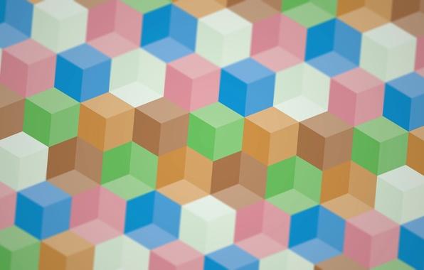 Picture line, pattern, paint, texture, cube, face, edge