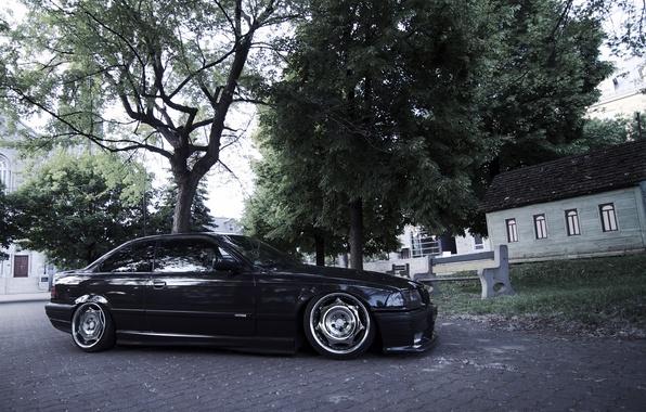 Picture tuning, BMW, BMW, black, profile, black, tuning, E36