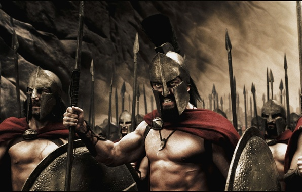 Picture Sparta, King, Leonid, Men, War, Spears, Shields, 300 Spartans
