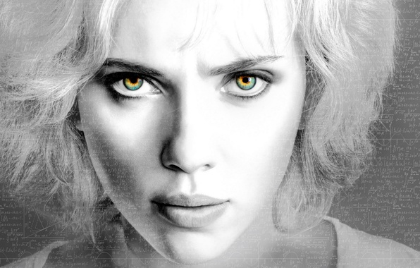 Picture Scarlett Johansson, eyes, Lucy, lips, look, actress, enigma, riddle