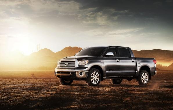 Picture desert, pickup, Toyota, toyota tundra